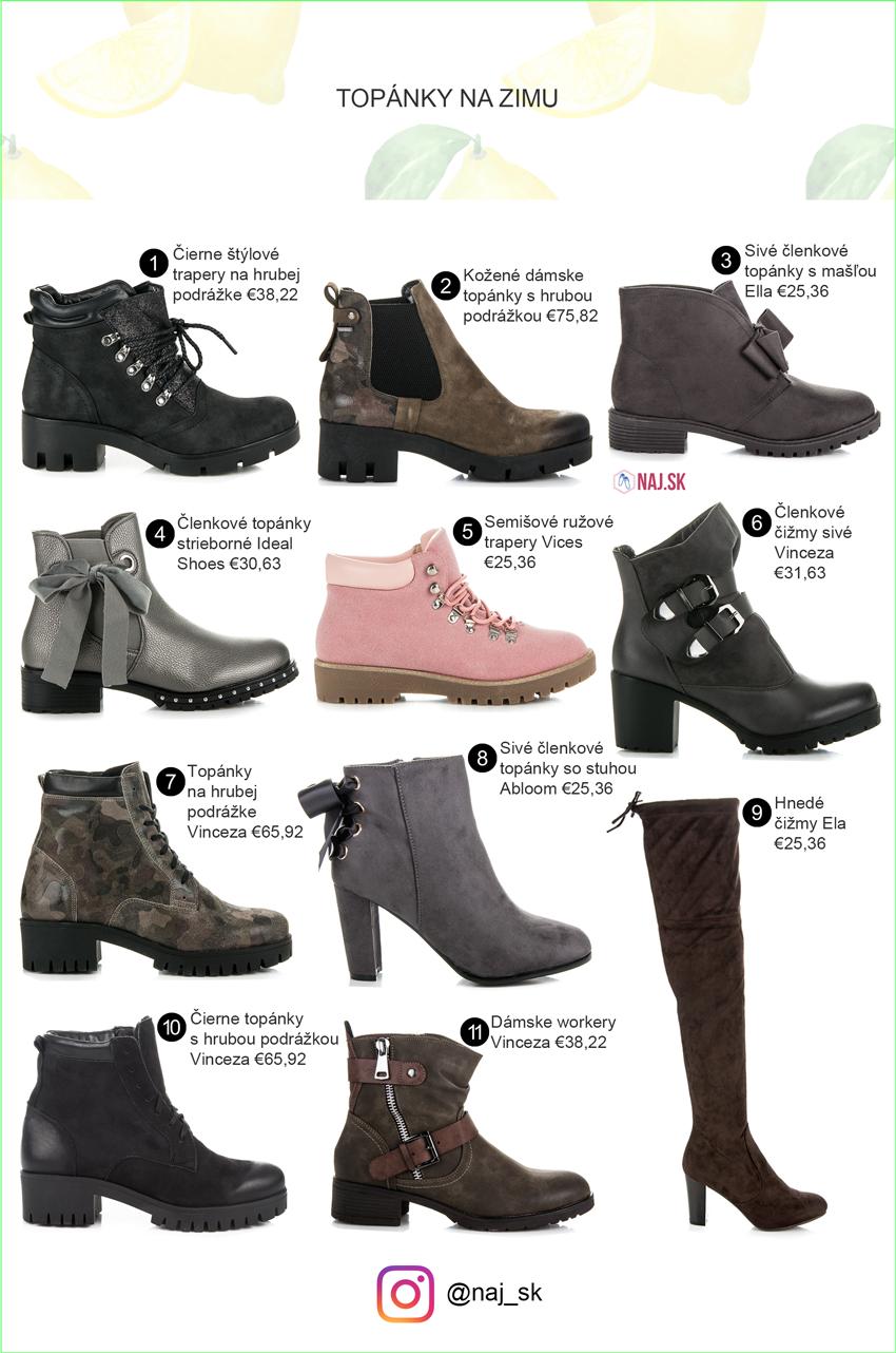 Topánky na zimu, čižmy