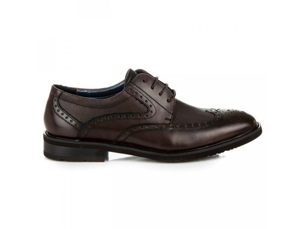 Pánske kožené spoločenské topánky