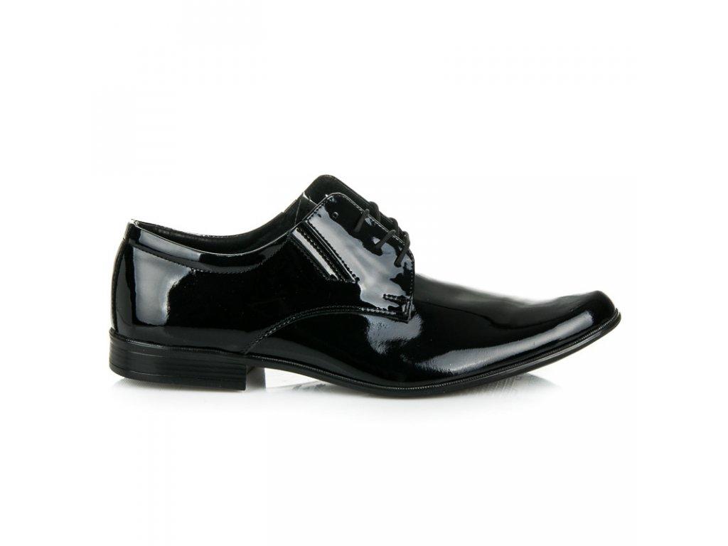 Pánske lakované spoločenské topánky