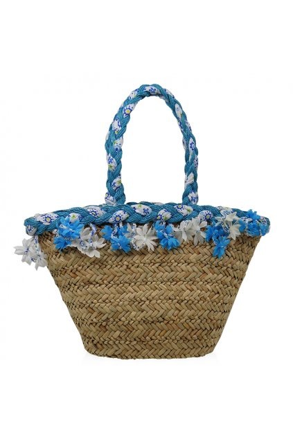 Letná plážová taška - modrá