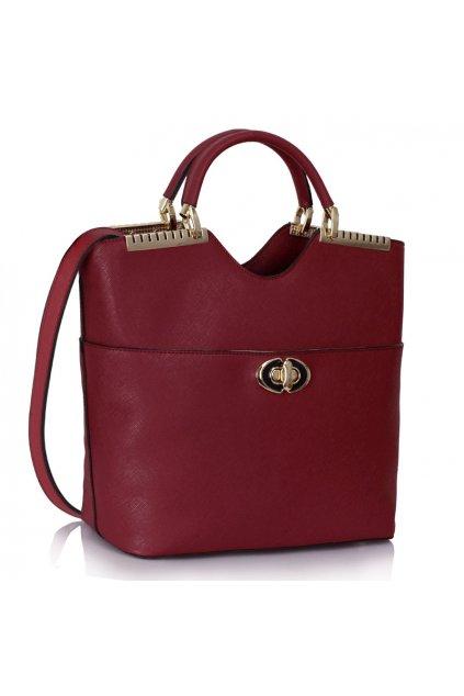 Shopper kabelka do ruky Annabel bordová LS0074A