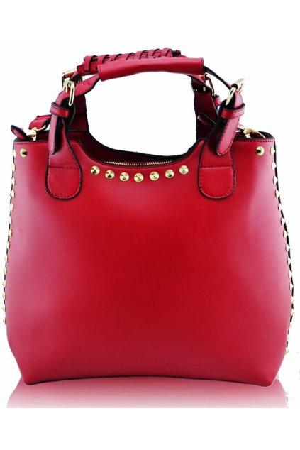 Shopper kabelka do ruky Delia D červená LS00105A