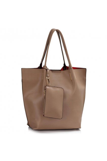 Shopper kabelka do ruky Dora zemitá LS00442