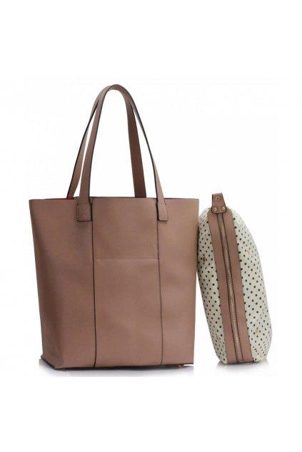 Shopper kabelka do ruky Hanna zemitá LS00467