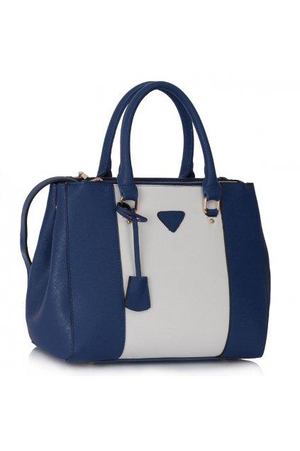 Shopper kabelka do ruky Chattie námornícka / biela LS00118