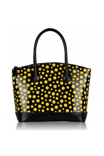 Shopper kabelka do ruky Laurie čierna / žltá LS00282