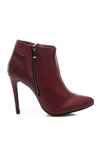 Červené topánky na vysokom opätku AL3-K30R / S1-30P veľ.č. 38, 40 (Veľkosť UK7 / EUR 40)