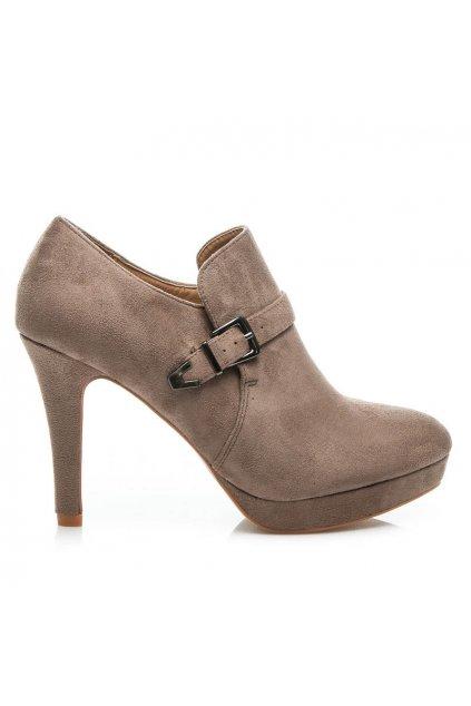 Štýlové topánky na vysokom opätku veľ.č. 41 (Veľkosť UK3 / EUR 36)