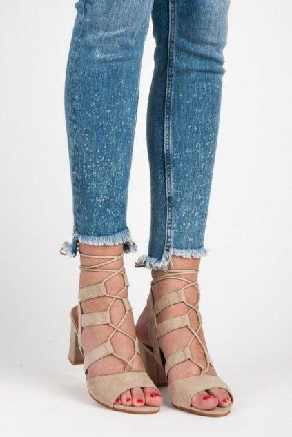 Béžové sandále 699-6BE