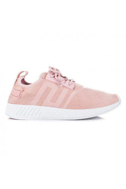 Semišové ružové tenisky 8186-20P