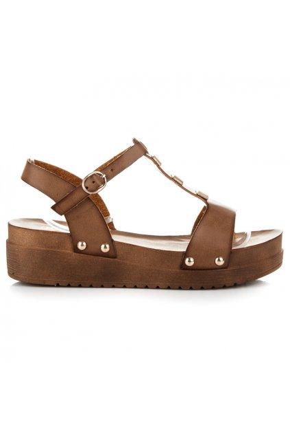 Hnedé sandále 568-6KH