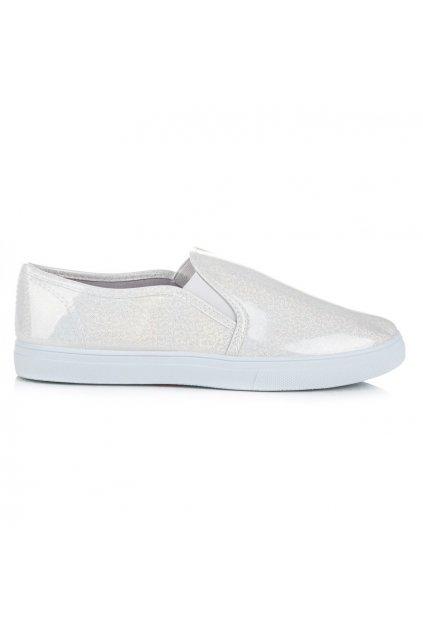 Biele tenisky Slip on CB909W