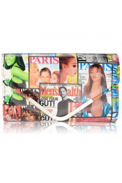 Viacfarebná listová kabelka Magazin LSE00249 color/silver