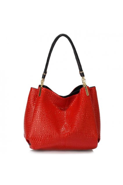Červená kabelka na rameno Emma