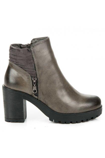 Členkové topánky na širokom stĺpiku 65108G