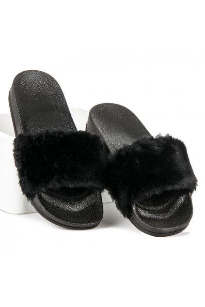 Čierne papuče Eliška LS-1B