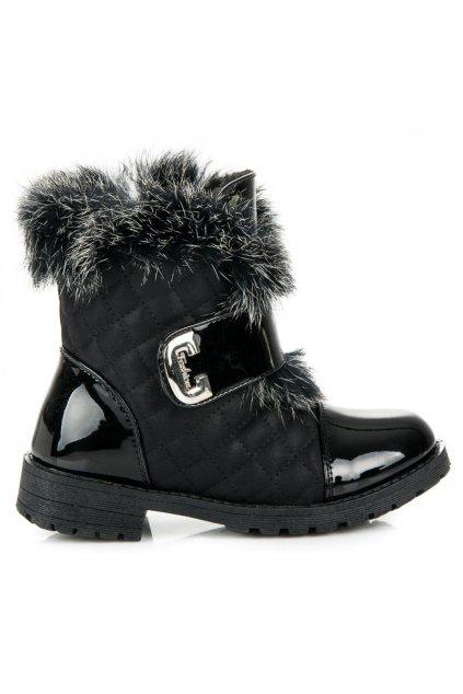 Detské topánky s kožušinou C1712B