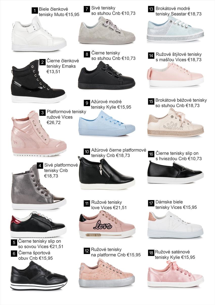 853b6872cca17 Tenisky - Kolekcia obuvi jar leto 2018